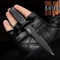 BLACK SURVIVOR HUNTING FIXED BLADE KNIFE Survival Bowie Combat w/ POCKET SHEATH