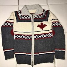 DSQUARED2 Full Zip Cotton Maple Leaf Wool Sweater Dsquared Christmas