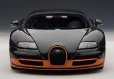 AUTOART BUGATTI VEYRON 16.4 SUPER SPORT 1:18 SCALE MODEL CAR BLACK/ORANGE