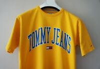 TOMMY JEANS Men's Yellow Collegiate Logo T-shirt TOMMY HILFIGER Tee