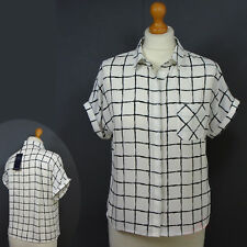 New M&S Silky CAP SLEEVE Relaxed Fit BLOUSE / SHIRT ~ Size 14 ~ IVORY MIX