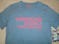 PRPS Heather Sky Blue Mens L  WAREHOUSE DISTRICT Large T Shirt Orig. $55+ Cotton