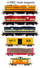 Maine Central Locomotives and Train set of 6 magnets Andy Fletcher