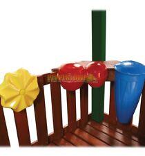 Outdoor Music Kit Bongo Drums Rain Wheel Backyard Kids fun Playground Cubby Fort