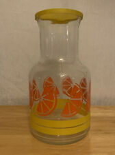 Vintage Libbey Glass Orange Juice Pitcher, Container, Jug, Jar Made In Canada