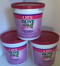 ORS Olive Oil Girls Hair Pudding For Styling And Smooth Ponytails 13 Ozs