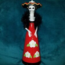 RARE LA CATRINA CERAMIC Skeleton Bottle Decanter LIMITED Kah tequila skull 14in.