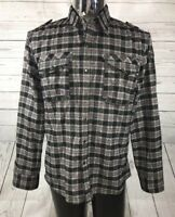 Seven 7 Diamonds Long Sleeve Plaid Mens Shirt XL Soft Flannel Metal Snap