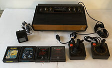 ATARI 2600 CONSOLE BUNDLE 4 GAME PAC MAN ASTEROIDS L2