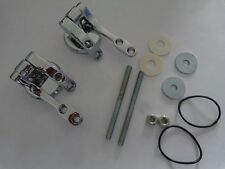 REPLACEMENT Polished Chrome WC Toilet Seat Hinges Hinge Fittings & Seals
