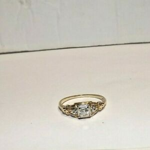 Estate 14Kt Gold .25 Carat Diamond Ring, Vintage Engagement, Size 8, 2 Grams
