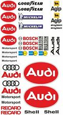 Audi Logo Autoaufkleber Sponsoren Marken Aufkleber Decals Tuning Sticker Set