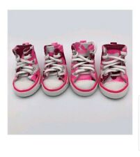 PetFavorites Puppy Dog Sporty Shoes Lace up Pink Canvas Sneakers Boots Nonslip