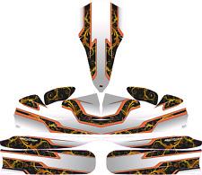Orange VITESSE Or Chrome Custom Full Kart Sticker Kit-Karting-jakedesigns