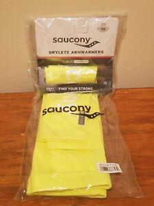Saucony Drylete Armwarmers - ViziPro Neon Yellow - Size X-Small XS