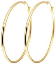 Titanium Titan Ohrhänger Ohrringe Klapp Creolen Kreolen dünne Damen vergoldet 40