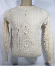 Vintage Pullover Sweater Size 38 Pendleton Knockabouts Cable Knit 100% Wool USA