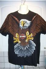 VINTAGE 1990s TUCSON ARIZONA EAGLE HARLEY DAVIDSON MOTORCYCLE T SHIRT MENS XL