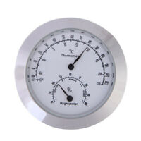 Hygrothermograph Violin Accessaries Round Thermometer Hygrometer Humidity G2D6