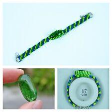 LEKLAI KAEW GREEN bracelet protect magic lucky Rare thai buddha amulet 017