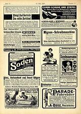 F. Wolff Indische Blumenseife A. Rose Magdeburg Parade Fahrräder Annoncen 1904