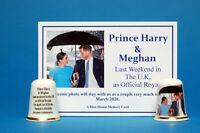 Prince Harry & Meghan Last Weekend In U.K As Official Royals Thimble +Card B/112