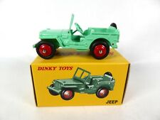 Jeep Willys verte fluo- DINKY TOYS DeAgostini VOITURE MINIATURE MODEL CAR - 25J