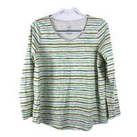 J. Jill Women's Size L Pima Cotton Striped Long Sleeve Top