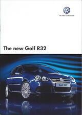 Volkswagen Golf R32 3.2 V6 250PS 4MOTION UK Brochure November 2005 24 Pages