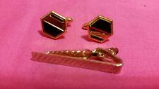 Vintage Dante tie bar with matching cuff links, very nice set NICE - J20A