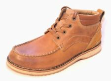 """Clarks Mens/boys   """"MAHALE MID""""   tan leather boots size 5.5G.New"""