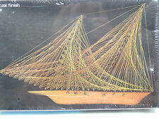 Vtg 70's New Old Stock Dimensional Copper Wire Sculpture Kit Schooner Ship 8x12""