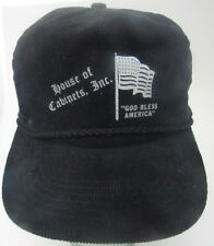 House Of Cabinets God Bless America Flag Hat Cap Corduroy Zipper A7