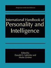 International Handbook of Personality and Intelligence (2010, Paperback)