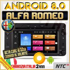 AUTORADIO Android 8.0 OctaCore 4gb / 32GB ALFA ROMEO 159 SPIDER BRERA NAVIGAT