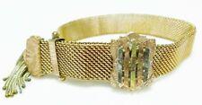 Gold Front Adjustable Mesh Bracelet Victorian Rolled Gold Filled Gf 14K
