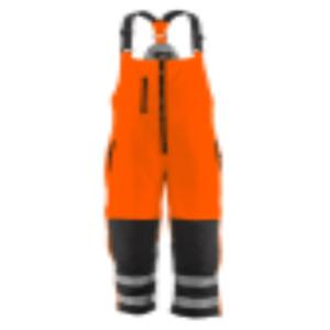 Refridgeware Bib Overalls- Hivis insulated Softshell High Bib(Orange/Black)