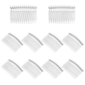 10pcs Side Hair Combs Plastic  14-Teeth Transparent Hair Accessories