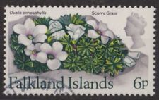 c347) Falkland Islands. 1972. Used. SG 284 6p. Flowers