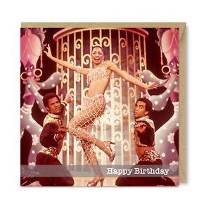 Unique Vintage Retro Nostalgia Birthday Card,1970s Funky Cool Disco Dancing Girl