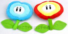 Lot 2 Super Mario Bros Fire/Ice Flower Plush Toy/MW145