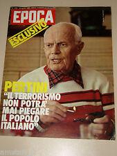 EPOCA=1980/1560=SANDRO PERTINI=CRISTINA FERRARE=ANNA TINGLE FISHER=ANTHONY QUINN