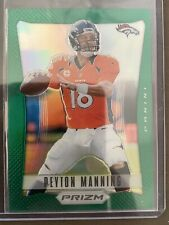 2012 Prizm Peyton Manning BRONCOS Green Silver Holo Refractor PRIZM RC Beauty!!!