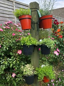 6 Plant pot hanger,holder,rings,hang pots on pipes or post mini,micro gardening.