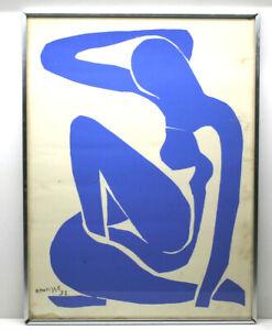 "Henri Matisse Nu Bleau (1) 1952 Blue Nude 1 Fauvism Lithograph 23"" X 17""+Framed"