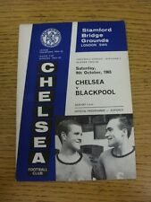 09/10/1965 Chelsea v Blackpool  (Fold). This item has been inspected, any any ob