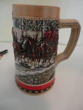 New listing 1988 Anheuser Busch Budweiser Special Holiday Stein Beer Mug