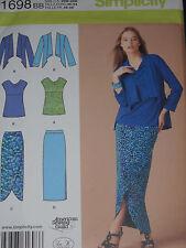 Knit Top Jacket Skirts Simplicity 1698 Women's size 20w-28w Sewing Pattern
