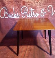 Vintage Retro Formica Wooden Square Side Occasional Coffee Table Atomic Dansette
