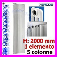 3S TERMOSIFONE CALORIFERO TUBOLARE ACCIAIO BIANCO 5 COLONNE H 2000 COMBY ERCOS